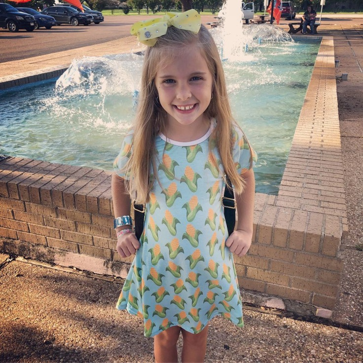 My daughter wanted to wear her Corn Dress to the movie and discussion :)